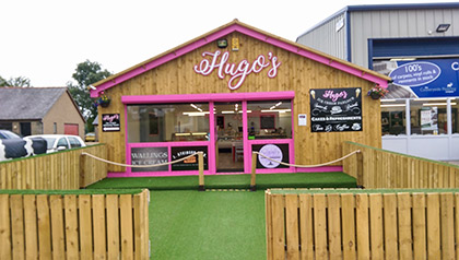 Hugos ice cream parlour and coffee shop